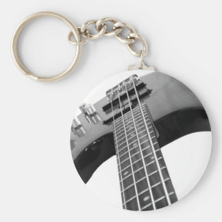 Bass Basic Round Button Keychain