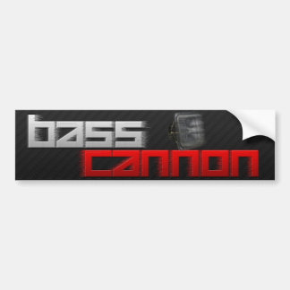 Bass Cannon Bumper Sticker