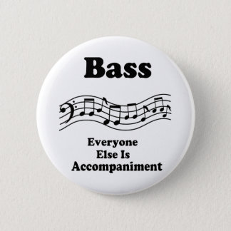 Bass Choir Gift 2 Inch Round Button