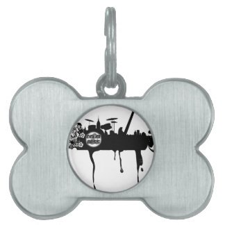 Bass City Scape Pet Name Tag