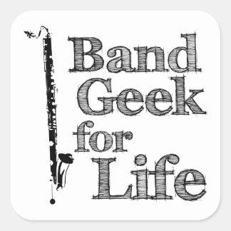 Bass Clarinet Band Geek Square Sticker