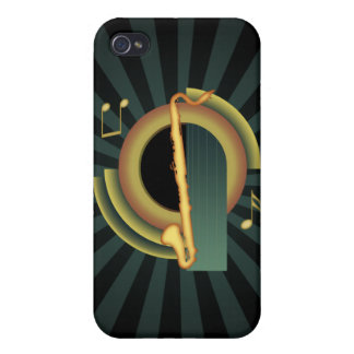 Bass Clarinet Deco 1 iPhone 4 Case