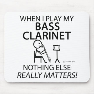 Bass Clarinet Nothing Else Matters Mouse Pad