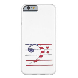 """Bass clef """"american flag"""" barely there iPhone 6 case"""