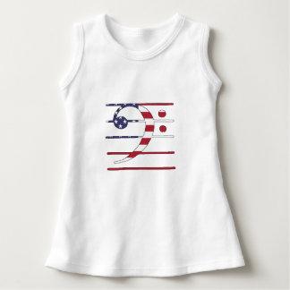 "Bass clef ""american flag"" dress"