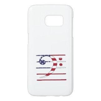 """Bass clef """"american flag"""" samsung galaxy s7 case"""
