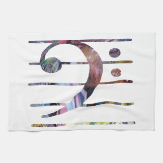 Bass Clef Art Kitchen Towel