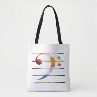 Bass Clef Art Tote Bag