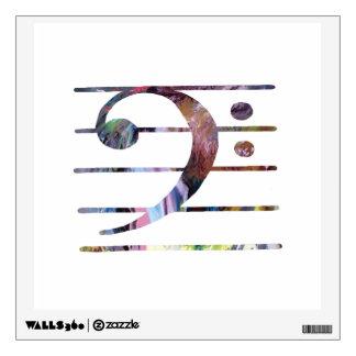Bass Clef Art Wall Sticker