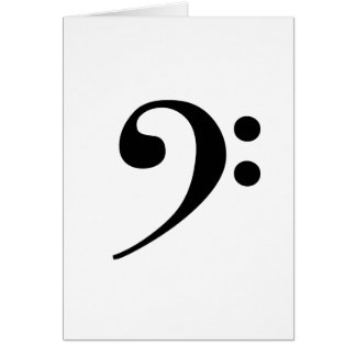 Bass Clef Greeting Card