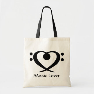 Bass Clef Heart Music Lover Bag