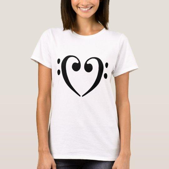 Bass Clef Heart T-Shirt