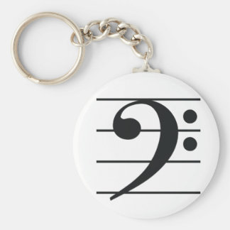 Bass Clef Key Chain