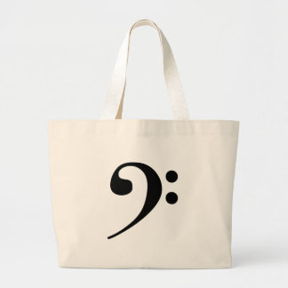 Bass Clef Large Tote Bag