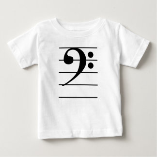 Bass Clef on Staff Baby T-Shirt
