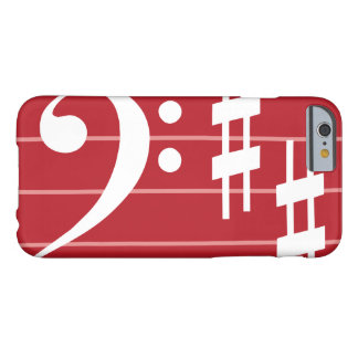 Bass Clef Phone Cover Case in Red