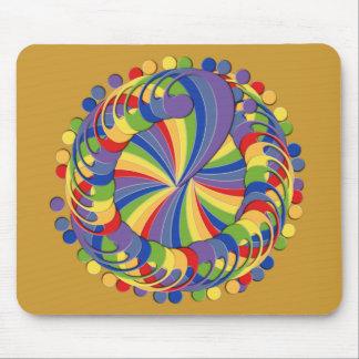 Bass Clef Pinwheel Rainbow Mouse Pad