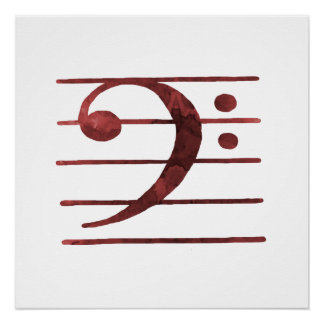 Bass Clef Poster