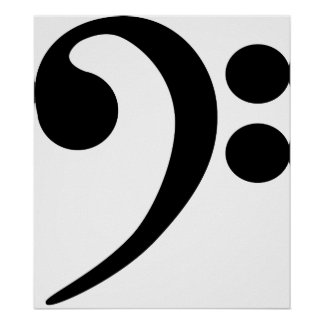 Bass Clef Posters