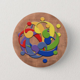 Bass Clef Rainbow Ball Puzzle 2 Inch Round Button