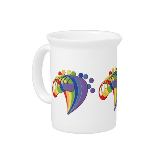 Bass Clef Rainbow Fan Creamer Pitcher