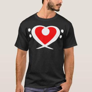 Bass Clef Red Heart Shirt