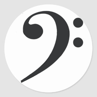 Bass Clef Sticker