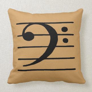 bass clef throw pillow