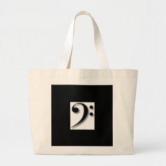Bass Clef Tote Bag for Music and More