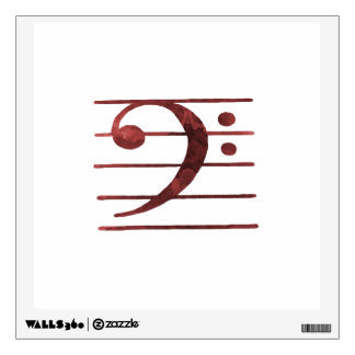 Bass Clef Wall Decal