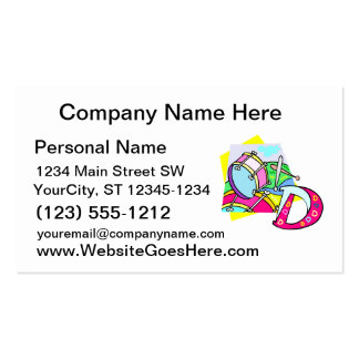 Bass drum and letter D graphic colourful image Business Card