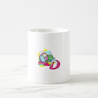 Bass drum and letter D graphic colourful image Mugs