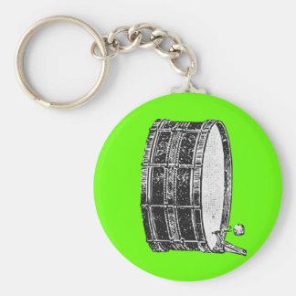 Bass Drum Basic Round Button Keychain