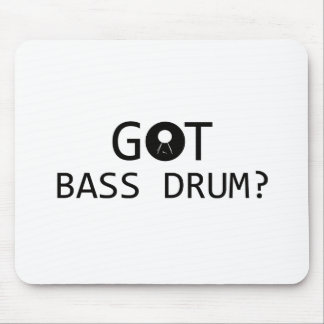 BASS DRUM music designs Mouse Pad