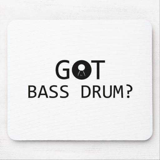 BASS DRUM music designs Mousepad