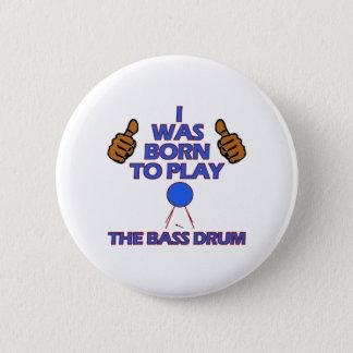bass drum Musical designs 2 Inch Round Button