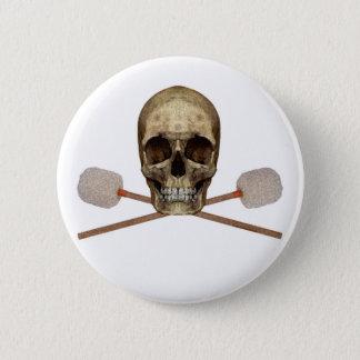 Bass Drum Pirate 2 Inch Round Button