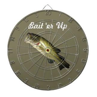 Bass fish dart board