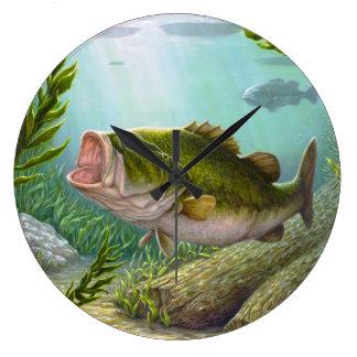Bass Fish Large Clock