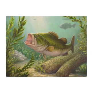 Bass Fish Wood Print