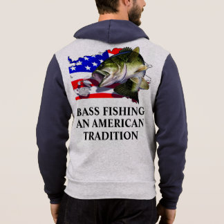 BASS FISHING AN AMERICAN TRADITION HOODIE