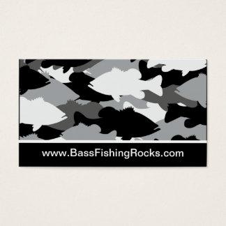 Bass Fishing Black Camo Business Card