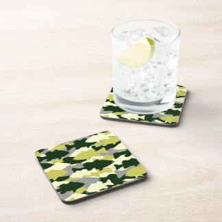 Bass Fishing Green Camo Coaster