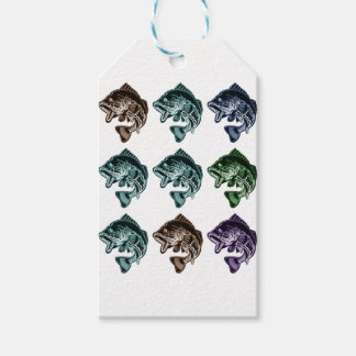 Bass Fishing Pack Of Gift Tags