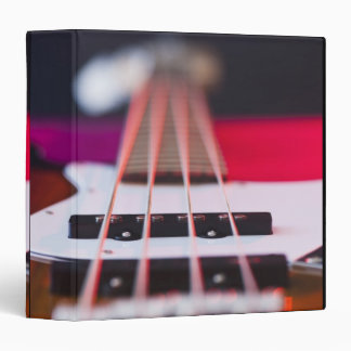 Bass Guitar 3 3 Ring Binders