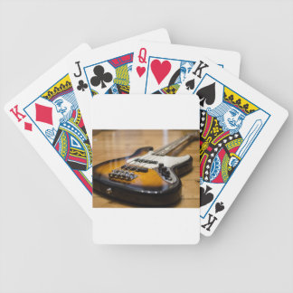 Bass Guitar Bass E Bass Instrument Strings Bicycle Playing Cards
