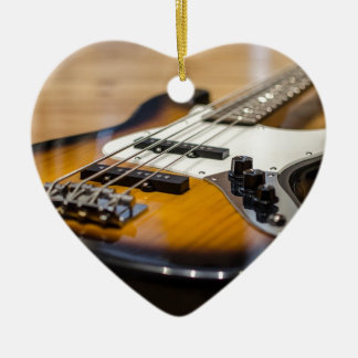 Bass Guitar Bass E Bass Instrument Strings Ceramic Ornament