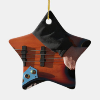 Bass Guitar Ceramic Ornament