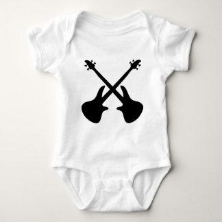 bass guitar crossed baby bodysuit