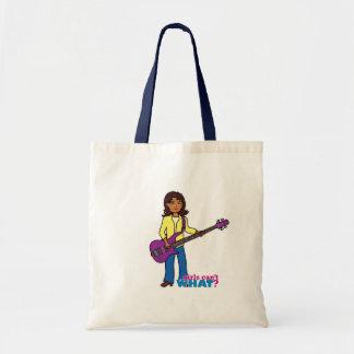 Bass Guitar Girl Canvas Bag